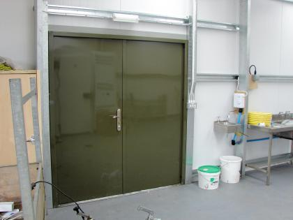 Standard PA door for the dairy unit
