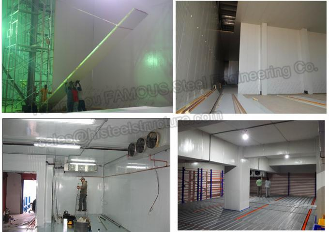 pu insulated hinged doors cold storage room