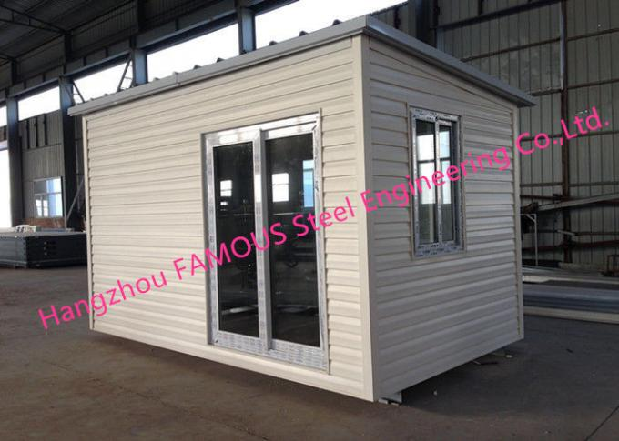 Light Duty 40ft Prefab Container House For Temporary Accommodation With Painted Surface