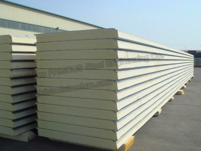 Environment Protection PU Sandwich Insulated Panels Water Resistant for Wall Systems