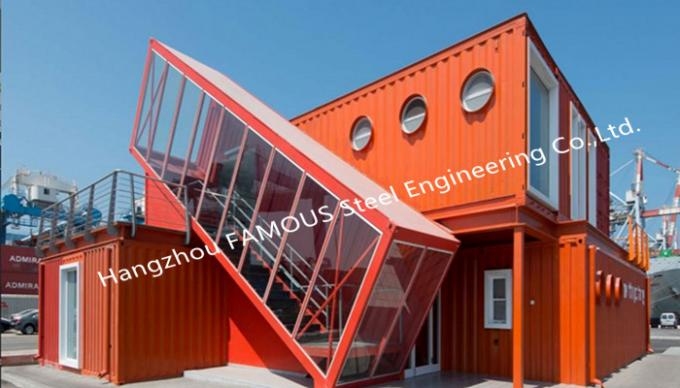 Box Shipping Container House For Commercial Use Expandable Container Buildings Inexpensive Solution