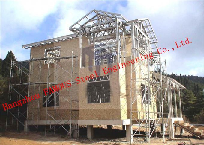 Pre-engineered Stabl Structure Light Steel Villa with Glass Curtain Wall for Showroom