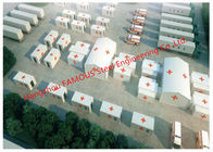 China Lightweight Steel Frame Flat Pack Prefab Containers For International Rescue Camp Or Clinic Office factory
