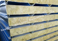 Recycled Usage Fire Resistant Rock Wool Sandwich Panels Easy Installation Roof Systems