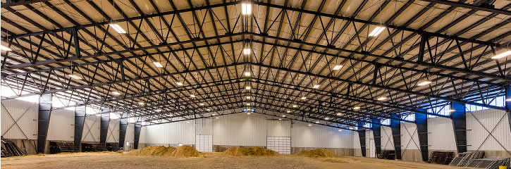 Industrial TrussFrame Open Web Rafter System Allows For Clearspans In Excess Of 250'