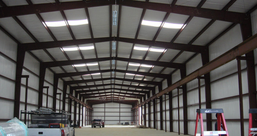 Industrial Steel Buildings Size 100' X 80' With H Section Beams Warehouse