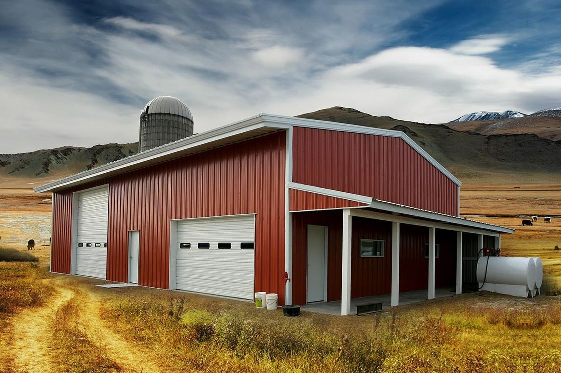 Residential Agricultural Metal Buildings 30'x50'x14′ Customized Design