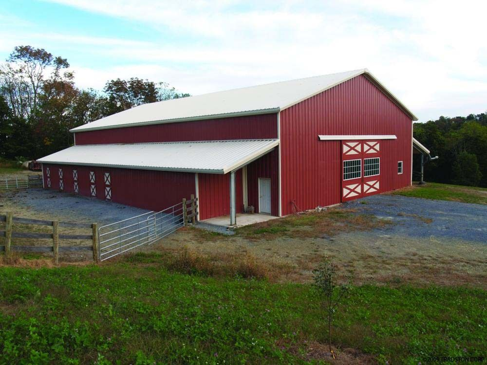 Peb pole steel buildings metal barn building kits h for Metal barn pictures