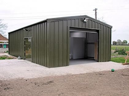 Dairy Farm Building With Insulated Steel Walls