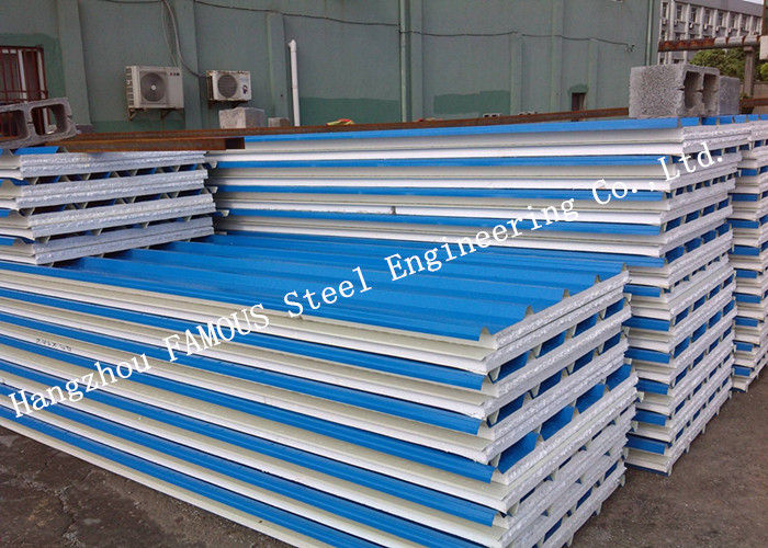 Corrugated 950mm Lightweight Steel Sheet EPS Sandwich Panels for Warehouse Roof Panel