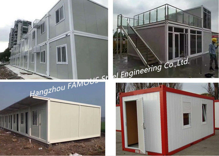 G +1 Floor Foldable Living Prefab Homes Modular Integrated Container House For Labor Camp