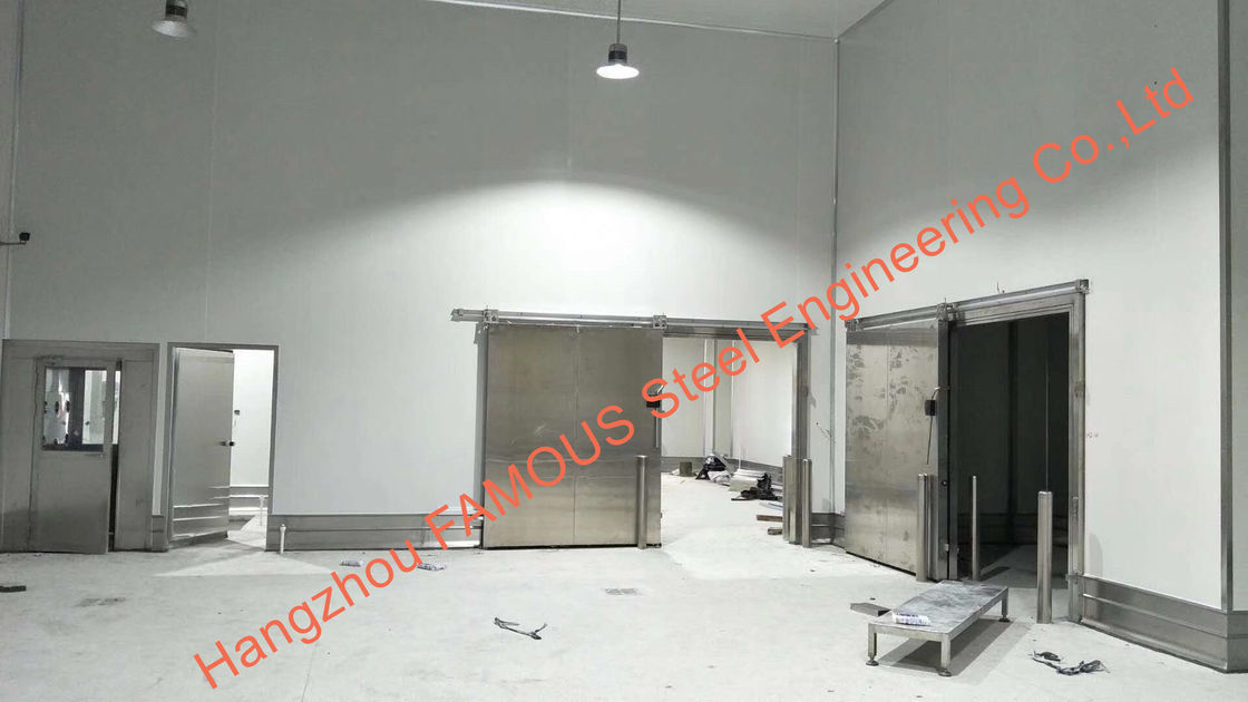Steel building walk in cooler & freezer cold room fishing equipment chiller for restaurant using
