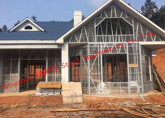 Prefab House Light Steel Villa Metal Buildings With Welded Frame Easy Construction