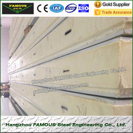 China 50mm PU sandwich panel for cold room partition walls sports hall distributor