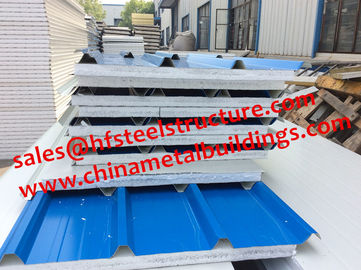 China EPS Sandwich Cold Room Panel Width 950mm Used For Wall and Roof Decoration distributor