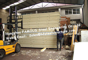China High Airtightness Seafood Commercial Walk In Freezer Insulated Panels PU Sandwich Panels Width 960mm distributor