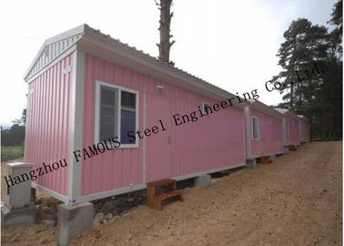 China Light Duty 40ft Prefab Container House For Temporary Accommodation With Painted Surface distributor
