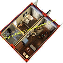 China 20ft Finely Decorated Modern Luxury Prefab Container House Complete Set Of Furniture distributor