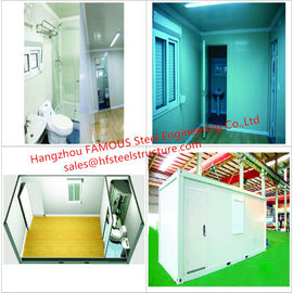 China Portable Prefab Container Homes With Interior Decorations  Bedroom/Bathroom/Kitchen/Washbasin distributor