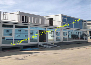 China Foldable Flat Pack Container House With Glass Facade Decoration For Office Use distributor