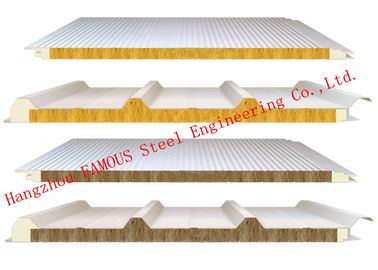 China 950mm Width Fire Resistant Mineral Wool Sandwich Wall Panels Durability and Long Life Time distributor