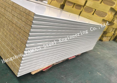 China Fst Construction Easy Installation Rock Wool Sandwich Panels Water Proof Wall Systems distributor