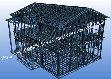 China Pre-engineered Stabl Structure Light Steel Villa with Glass Curtain Wall for Showroom distributor