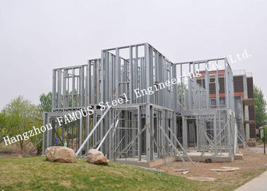 China Prefabricated Q235b Light Steel Villa with Cladding Systems for Residential House distributor